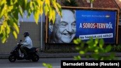 Panou cu George Soros în Ungaria