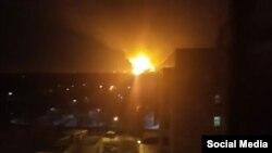 Пожар на пороховом заводе в Казани. 24 марта 2017 года.