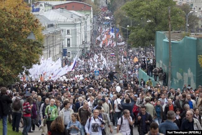 """""""Марш миллионов"""", Москва, 15 сентября 2012 года"""