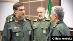 IRGC's commander in chief Mohammadali Jafari (R), former revolutionary guard's navy commander Ali Fadavi (C) and his successor Alireza Tangsiri.