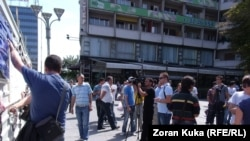Fotografi nga arkivi (Protestat e gazetarëve në Maqedoni)
