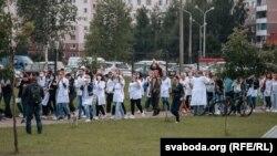 Ланцюг солідарності у Вітебську, Білорусь, 13 серпня 2020 року
