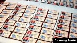 Служебные удостоверения депутатов айыльных кенешей.