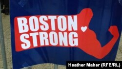 An impromptu memorial at the scene of the Boston bombings on Boylston Street.