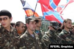 Митинг пророссийских сепаратистов в Донецке. 22 июня 2014 года.