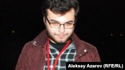 Кинофестивальге қатысушы Георгий Мухадзе (Грузия). Алматы, 22 қазан 2014 жыл.