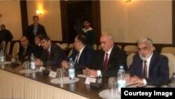 Siyasi partiyaların Əli Həsənovla görüşü, 15 dekabr 2014