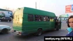 Пассажирский микроавтобус в Шымкенте. 30 октября 2017 года.