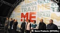 Sa protesta u ponedjeljak, foto: Savo Prelević
