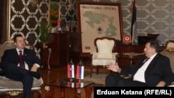 Premijer Srbije Ivica Dačić sa predsjednikom RS Miloradom Dodikom