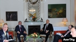 Presidents Serzh Sarkisian of Armenia and Ilham Aliyev of Azerbaijan met at the French consulate in Munich on November 22.
