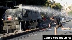 صحنهای از اعتراضهای تازه در شیلی