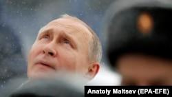 Президент РФ В. Путин в Петербурге 18 января 2018 г.