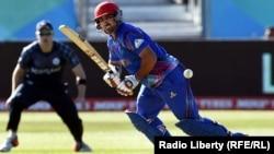 تیم ملی کرکت افغانستان در جریان بازی با سکاتلند