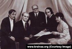 Леонид Грабовский, Арсений Котляревский, Игорь Ассеев, Владимир Губа, Галина Булыбенко. Фото 1977 год