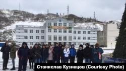 Акция протеста жителей Сахалина против передачи Курильских островов