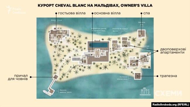 Крім основної вілли з басейном, на острові, де відпочивав президент Порошенко, в його розпорядженні були зона спа та приватний пляж