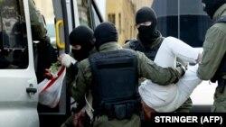 Задержание во время протестов в Минске