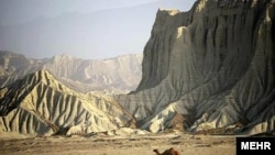 Mountains and rock formations near Chabahar