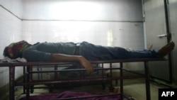 جسد وثیق رحمان که به دست اسلامگرایان افراطی کشته شد.