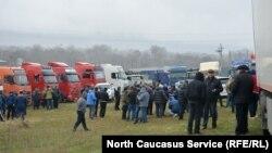 Забастовка дальнобойщиков в Северной Осетии, 27 марта 2017 года