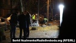 На месте взрыва, Киев, 25 октября 2017 года