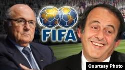 Бывшие президент ФИФА Йозеф Блаттер (слева) и его заместитель Мишель Платини. Иллюстративное фото.