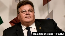 "Lithuanian Foreign Minister Linas Linkevicius says he is ""skeptical"" of the Italian proposal."