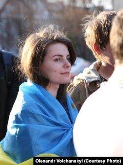 На митинге 8 апреля, Луганск