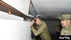 İlham Əliyev işğal olunmuş ərazilərə baxır 12 noyabr 2016