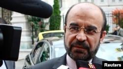 Iran's representative, Ambassador Reza Najafi, at the talks on September 27