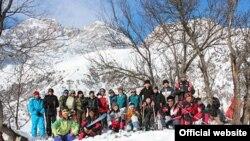 Лыжники в Арсланбобе.