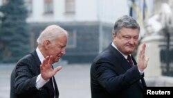 Джо Байден и Петр Порошенко, Киев, 16 января 2017