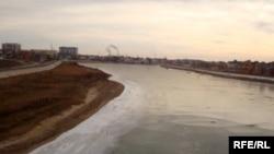 Русло реки Урал в Атырау.