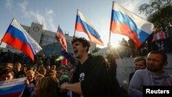 Акция в поддержку Алексея Навального, Владивосток, Россия, 7 октября 2017 год
