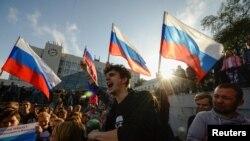 Акція на підтримку Олексія Навального, Владивосток, Росія, 7 жовтня 2017 року