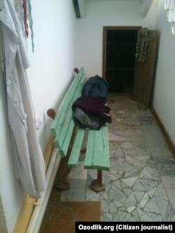 Приемная родильного дома в Джизакской области.