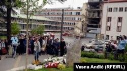 Komemoracija ubijenim radnicima RTS-a u NATO bombardovanju 199. godine