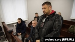 Блогер Сяргей Ціханоўскі на судзе, студзень 2020