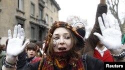 Италија, Рим, протести на студенти