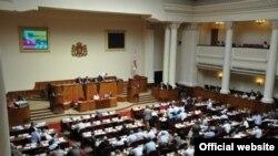 Վրաստանի խորհրդարանի նիստում: 1-ը հուլիսի, 2011թ.