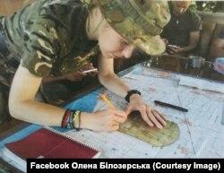 Олена Білозерська, офіцер-артилерист морської піхоти ЗСУ