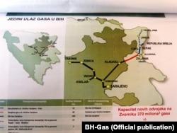 Mapa gasovoda u BiH, fotoarhiv