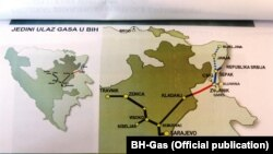 Mapa gasovoda u BiH