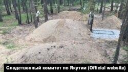 Незаконное кладбище в Якутске