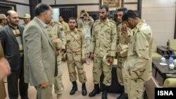 چهار سرباز ربوده شده ایرانی که به کشور بازگشتند.