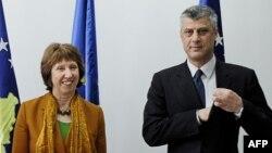 Косовскиот премиер Хашим Тачи денеска по средбата со со високиот претставник на Европската унија за надворешна политика Кетрин Ештон