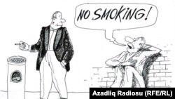 Karikaturany çeken Raşid Şerif