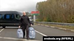 Паўло Шаройка на ўкраінскай мяжы