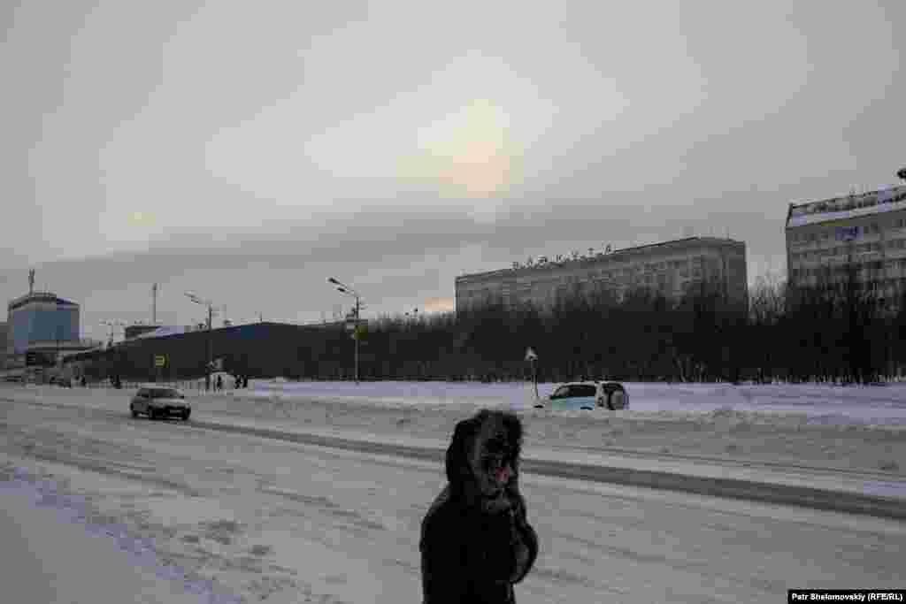 A central street in Vorkuta